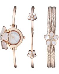 Anne Klein - Ak-3174rgst (rose Gold/tone) Watches - Lyst