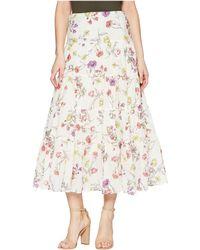 Lauren by Ralph Lauren - Tiered Cotton-blend Skirt - Lyst