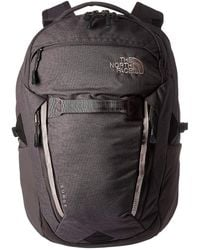 The North Face - Women's Surge Backpack (rabbit Grey Oxford Slub/burnished Lilac) Backpack Bags - Lyst