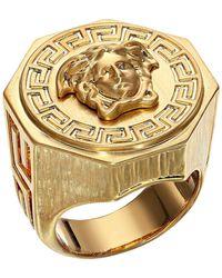 Versace - Greca Medusa Ring (gold) Ring - Lyst