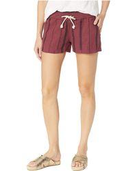 Roxy - Oceanside Shorts Yarn-dye (marshmallow/tea Party Stripe) Women's Shorts - Lyst