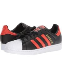 adidas Originals - Superstar (black/bold Orange/white) Men's Classic Shoes - Lyst