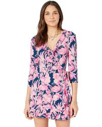 5d86185643d9 Lilly Pulitzer - Jessalynne Romper (inky Navy Flamingle) Women s Jumpsuit    Rompers One Piece