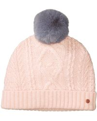 99ac91a5828 Ted Baker - Cable Knit Bobble Hat - Lyst