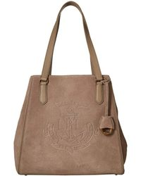 be9e2d44cd Lyst - Lauren By Ralph Lauren Equestrianprint Classic Tote in Brown