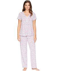 Carole Hochman - Floral Pajama Set (small Floral) Women's Pajama Sets - Lyst