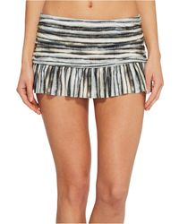 La Blanca - Bamboo Stripe Ruffle Skirted Hipster - Lyst
