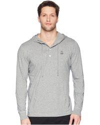37f6f65ae54320 Psycho Bunny - Long Sleeve Bunny Placket Hoodie (navy) Men s Sweatshirt -  Lyst