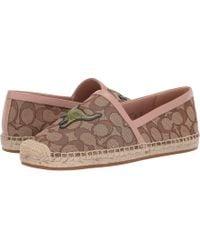 edc9f4aa72d COACH - Casey Espadrille With Rexy (khaki pale Blush Canvas) Women s Shoes -