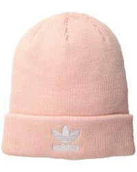 7ade7d9faec adidas Originals - Originals Trefoil Beanie (icey Pink white) Beanies - Lyst