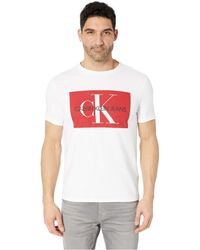 fe3fd0c7f098 Calvin Klein - Monogram Crew Neck T-shirt (medium Charcoal Heather) Men's T