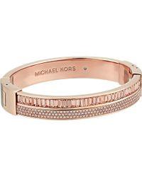 Michael Kors - Color Crush Baguette Cut Crystal Hinge Bracelet (rose Gold) Bracelet - Lyst