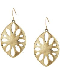 The Sak - Large Perforated Drop Earrings (gold) Earring - Lyst