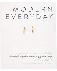 Dogeared - Modern Everyday, Huggie Earrings - Lyst