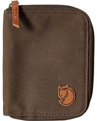 Fjallraven - Zip Wallet (dark Olive) Wallet Handbags - Lyst
