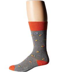 Vineyard Vines - Candy Corn Whale Socks (gray Heather) Men's Crew Cut Socks Shoes - Lyst