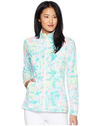 Lilly Pulitzer - Upf 50+ Meryl Nylon Luxletic Hadlee Tennis Jacket (multi Perfect Match) Women's Coat - Lyst