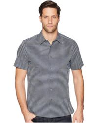 Perry Ellis - Mini Geo Print Short Sleeve Button Down Shirt (ink) Men's Clothing - Lyst