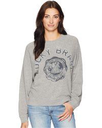 Lucky Brand - Lucky Varsity Pullover Sweatshirt (heather Grey) Women's Sweatshirt - Lyst