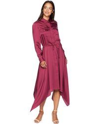 Lauren by Ralph Lauren - Twill Shirtdress (rich Cranberry) Women's Dress - Lyst