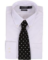 Lauren by Ralph Lauren - Slim Fit Stretch Pinpoint Non Iron Button Down Dress Shirt - Lyst