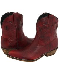 Dingo - Adobe Rose (red Distressed) Cowboy Boots - Lyst