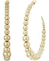 Kenneth Jay Lane - Polished Gold Balls Open Circle Direct Post Ear Earrings (polished Gold) Earring - Lyst