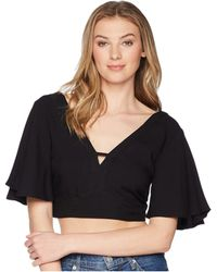 Jack BB Dakota - Kiana Crop Top (black) Women's Clothing - Lyst