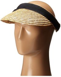 San Diego Hat Company - Wsv0005 4 Inch Brim Straw Clip On Visor With Bow - Lyst