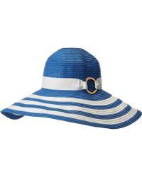 Lauren by Ralph Lauren - Packable Signature Grosgrain Sun Hat (capri Blue/cream) Caps - Lyst