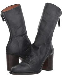 Free People - Elle Block Heel Boot (taupe) Women's Pull-on Boots - Lyst