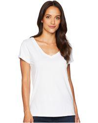 Dylan By True Grit - Effortless Short Sleeve V-neck Tee (white) Women's T Shirt - Lyst