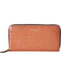 Kurt Geiger - Zip Around Wallet (tan) Wallet Handbags - Lyst