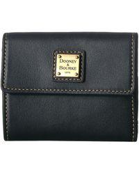 Dooney & Bourke - Emerson Small Flap Credit Card Wallet (tan/tan Trim) Wallet Handbags - Lyst
