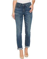 NYDJ | Girlfriend Jeans W/ Knee Slit In Crosshatch Denim In Newton | Lyst