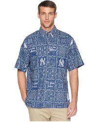 67ac1a0be4f Reyn Spooner - New York Yankees Original Lahaina Classic Fit Hawaiian Shirt  (navy) Men s