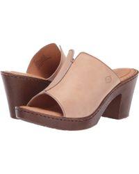 Born - Wenaha (natural Full Grain Leather) Women's Sandals - Lyst