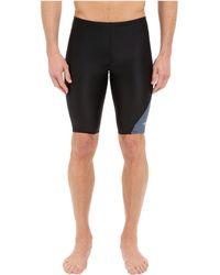 Speedo - Revolve Splice Jammer ( Black) Men's Swimwear - Lyst