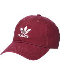 523c0cfd727 adidas Originals - Originals Relaxed Strapback Cap (black white 1) Caps -  Lyst
