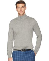 Perry Ellis - Cotton Modal 1/4 Zip Sweater (smoke Heather) Men's Sweater - Lyst
