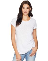 Dylan By True Grit - Go To Soft Slub Short Sleeve Classic Tee (white) Women's T Shirt - Lyst
