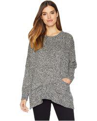 Kensie - Two-tone Boucle Sweater Ksnk5909 (black Combo) Women's Sweater - Lyst