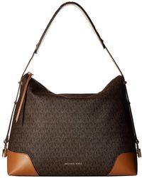 839cdddb570 MICHAEL Michael Kors - Crosby Large Shoulder (brown acorn) Tote Handbags -  Lyst