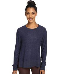 Alo Yoga - Glimpse Long Sleeve Top (rich Navy Heather) Women's Clothing - Lyst