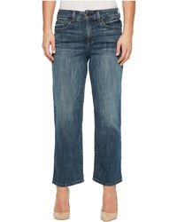 NYDJ - Petite Jenna Straight Ankle In Desert Gold (desert Gold) Women's Jeans - Lyst