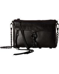 Rebecca Minkoff - Mini Mac (black) Cross Body Handbags - Lyst