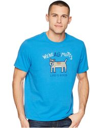 Life Is Good. - We're All Mutts Smooth Tee (marina Blue) Men's T Shirt - Lyst