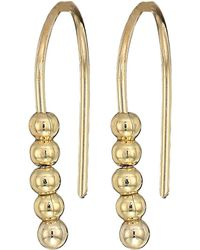 French Connection - Small Dot Drop Earrings (gold) Earring - Lyst