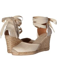 dbcd55424b8 Soludos - Tall Wedge Linen (blush) Women s Wedge Shoes - Lyst