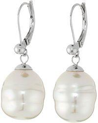 Majorica - 12mm Baroque Pearl Drop Earrings (nuage) Earring - Lyst